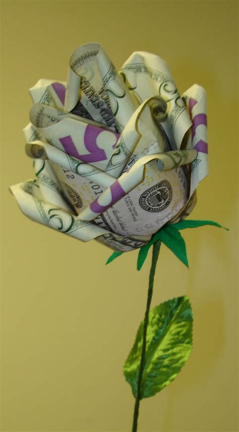 $25 origami money rose by pandaraoke on DeviantArt