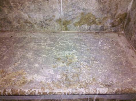etched emperador brown sudbury marble shower bench clean