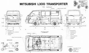 1989 Mitsubishi L300 Bus Blueprints Free