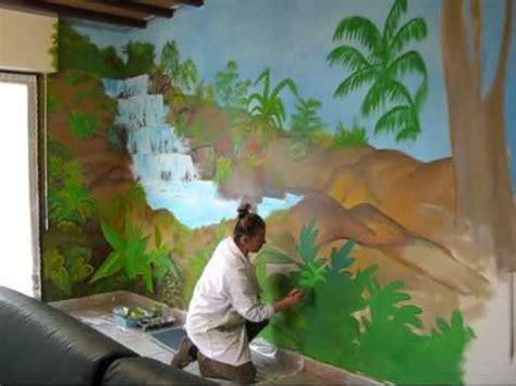 fresque murale chambre b fresque murale salon nov 2010 cascade tropiques iza wmv