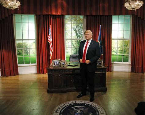 bureau president wax donald into oval office at madame tussauds