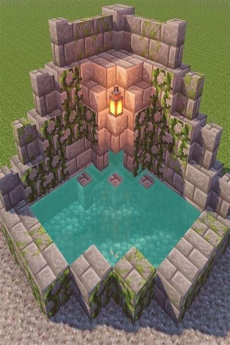 minecraft fountain design naturlichschonheitdesign