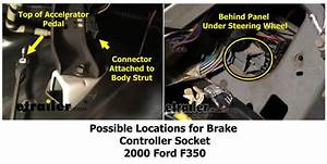 Locating Brake Controller Connector On 2000 Ford F350