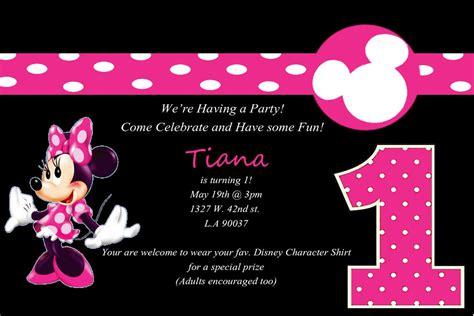 minnie mouse invitation template minnie mouse 1st birthday invitations best ideas
