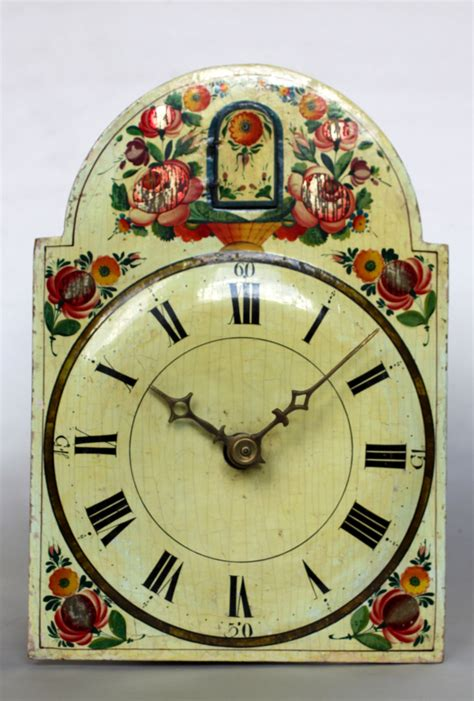 early german black forest polychrome cuckoo wall clock