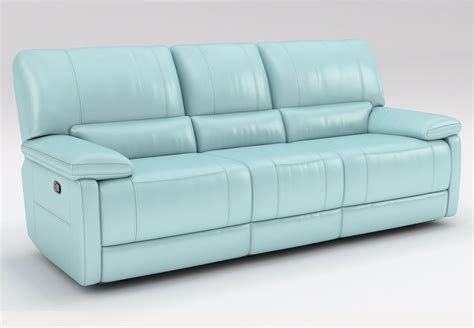 blue leather reclining sofa kuka maui light blue reclining sofa and reclining console