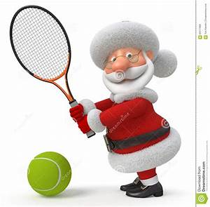 3d Santa Claus Plays Tennis Stock Illustration - Image ...