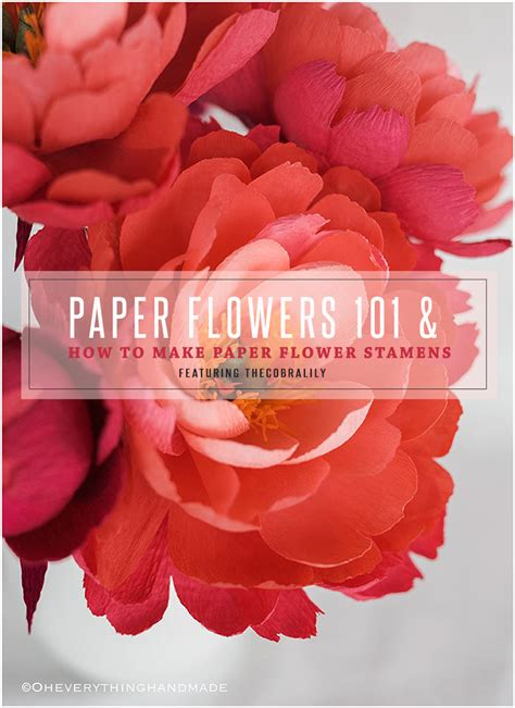 Paper Flowers 101 & How To Make Paper Flower Stamens