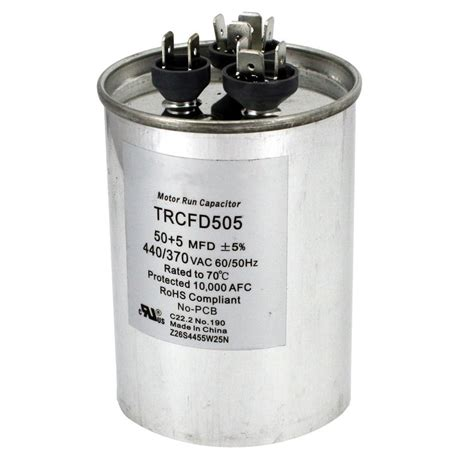 fan capacitor home depot packard 440 volt 50 5 mfd dual rated motor run round
