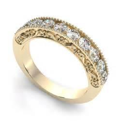 yellow gold wedding rings gold rings vintage gold rings etsy wedding