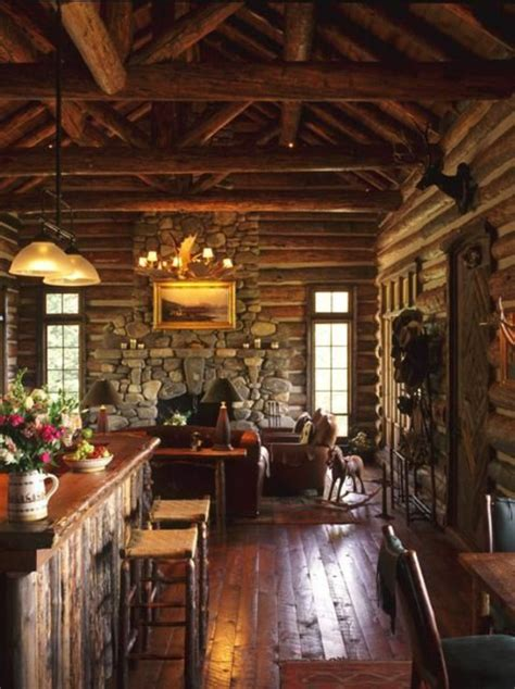 Country Living Room Ideas With Fireplace by Old Wooden Beams And Stone Walls Guarantee A Warm Rustic