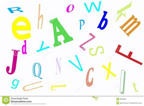 Alphabet Jumble Stock Illustration. Illustration Of