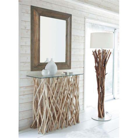 maison du monde carcassonne table console en teck et verre l 100 cm rivage maisons du monde kadolog