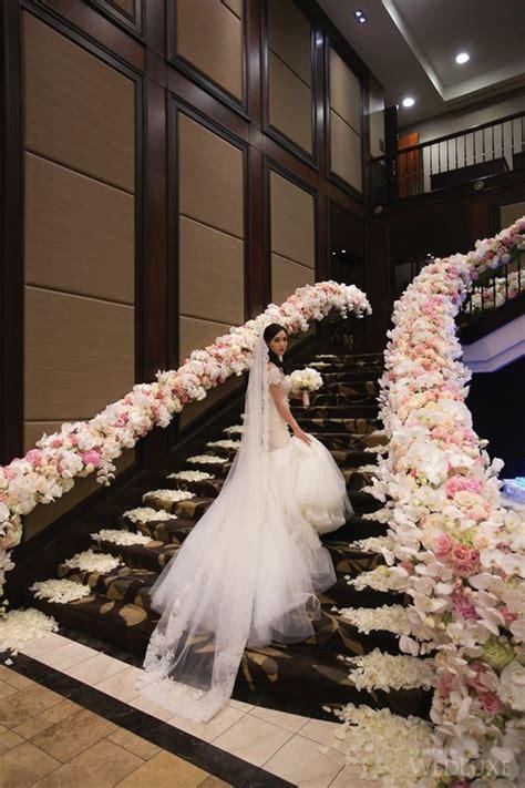 fantastic wedding staircase decor ideas weddceremonycom