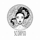 Zodiac Coloring Scorpio Signs Scorpion Horoscope Symbol Printable Adult Zodiaco Vektorillustration 30seconds Artwork Signe Dello Calendar Vecteur Coloriage Horoscopes Pagina sketch template