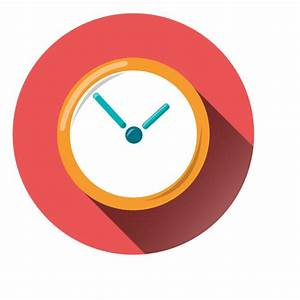 Clock round icon - Transparent PNG & SVG vector