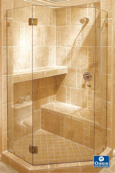 fameless neo angle shower features headerless design