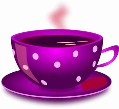 Tea Cup Clip Clipart Cups Purple Mug