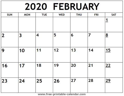printable february calendar printable calendarcom