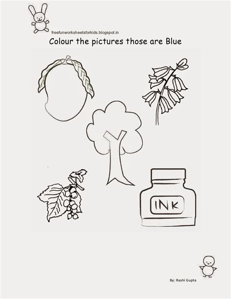 worksheets for nursery class free