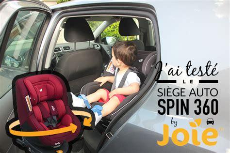 peut on mettre 3 siege auto dans une voiture test du siège auto spin 360 de la marque joie 3