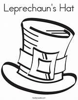 St Patrick Hat Coloring Leprechaun Tip Patricks Games Junkie Leprechauns sketch template