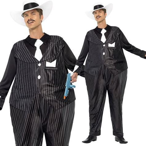 Mens 20s Fancy Dress - 1920s Gangster Outfit Gatsby Costume Accessories | eBay