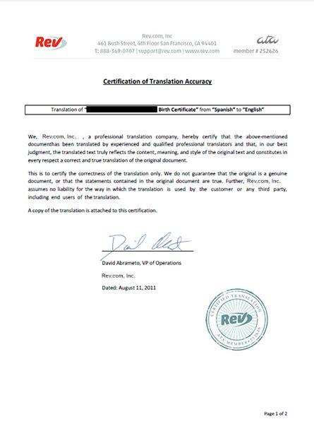 certification of documents translate romanian certified documents rev