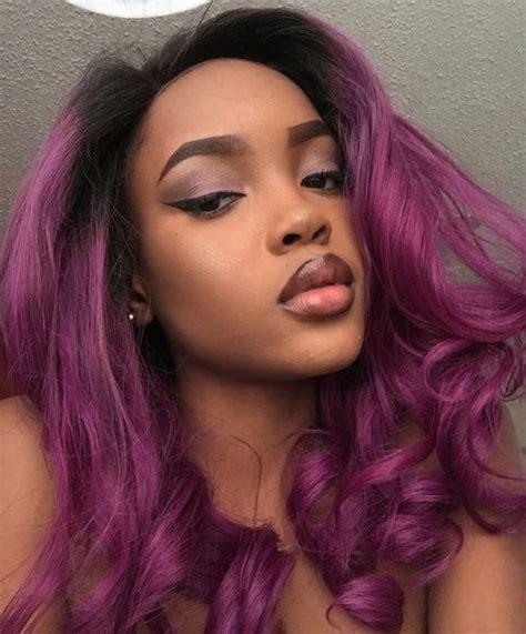 purple hair color ideas trending  september