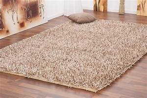 tapis shaggy tisse a la main coloris brun clair design With tapis shaggy avec dimension standard canapé
