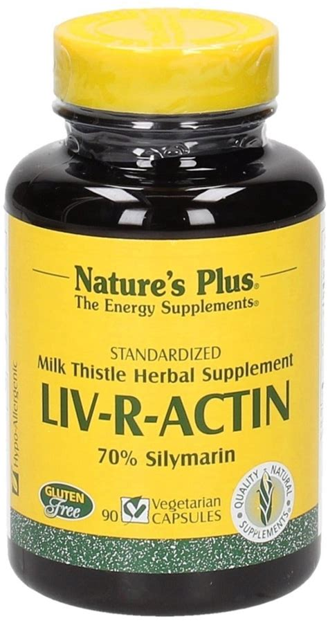 natures plus liv r actin caps liv r actin 70 silymarin 90 veg capsules nature s
