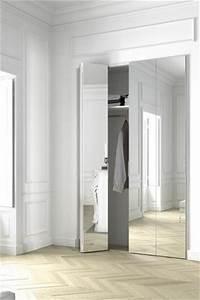 17 meilleures idees a propos de portes de placard miroir With exceptional la maison du dressing 5 placard pour une entree
