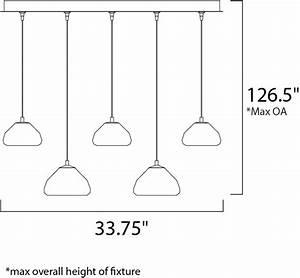 Vive 5-light Led Pendant - Linear Pendant