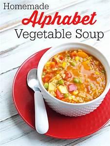 Homemade Alphabet Vegetable Soup Recipe - Happy Healthy Mama