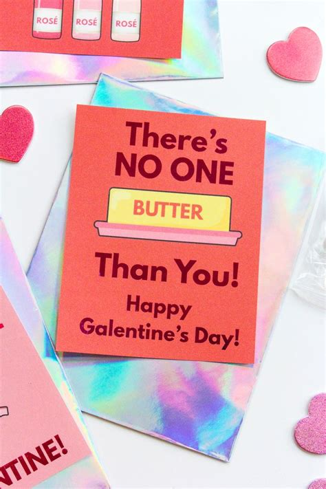 Free Printable & DIY Foiled Galentine's Day Cards | Diy ...