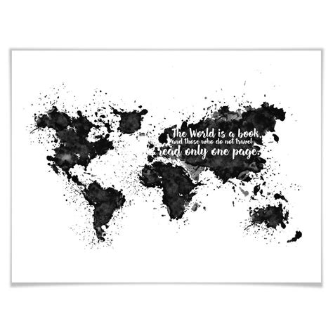 Bild Als Poster by Poster Con Cornice The World Is A Book