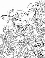 Coloring Garden Adults Butterfly Spring Flower Printable Gardens Secret Adult Colorir Mandalas Google Desenhos Drawing Books Bing Source Rocks Pintar sketch template