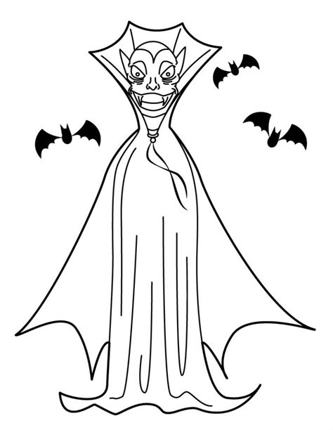 printable vampire coloring pages  kids