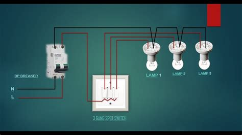 electrical house wiring  gang switch wiring diagram youtube