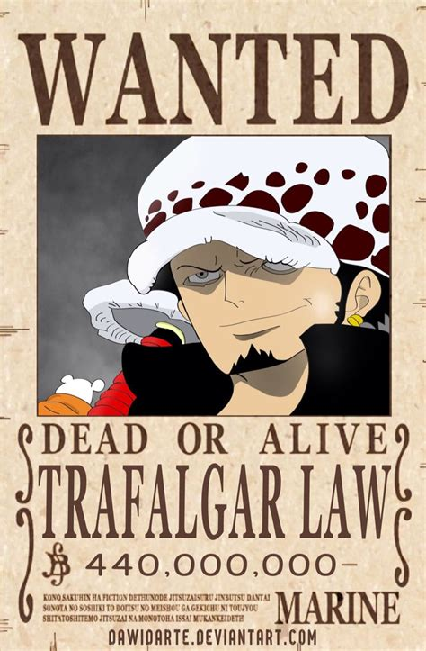 law dressrosa wanted poster king   pirates