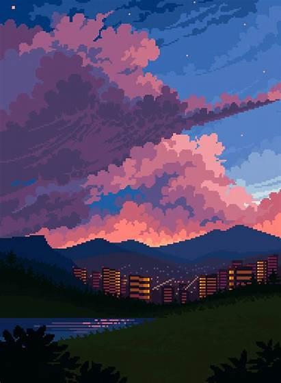 Pixel Piskel Drawing Background Overlook Pixelart Oc