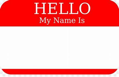 Clip Clipart Tag Nametag Changed Hello Someone