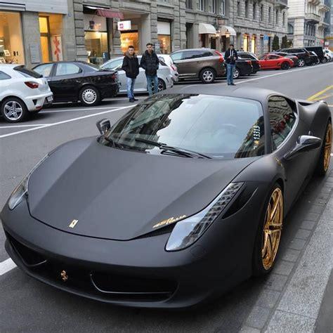 Matte black 2015 ferrari 458 italia. Golden Wheels Ferrari 458   Cars & motorcycles   Pinterest   Ferrari 458, Ferrari and Wheels