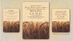 save the date postcards cheap read more fall wheat rustic wedding invitations