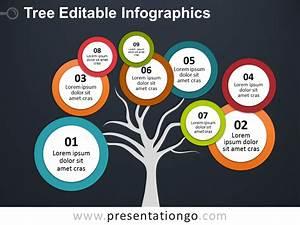 Bubbles Tree Powerpoint Diagram