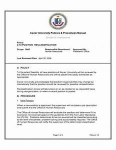 office manual template - human resources policies procedures manual xavier