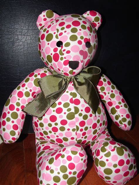 Memory Bears From Clothing Pattern