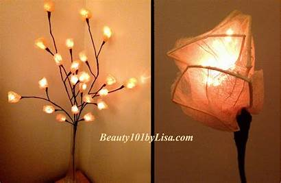 Candles Warmers Flameless Operated Flame Branch Lights