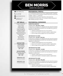 Pages Resume Templates Not In by Professional Resume Template Ben Morris Bestresumes