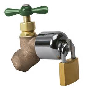 outdoor faucet lock with padlock from sporty 39 s tool shop - 8 Kitchen Faucet